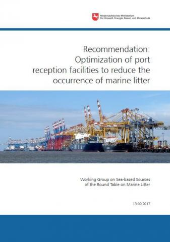 Titelseite: Optimization of port reception facilities to reduce the occurrence of marine litter